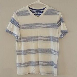 Boys v-neck striped t-shirt